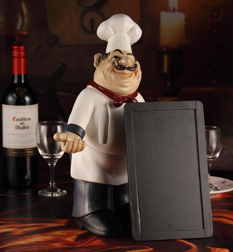 2018 Amiable Chef Statue Message Board Decorative Resin Kitchen Cook Menu  Ornament Craft Accessories For Home, Restaurant And Pub From Liuliu811, ...