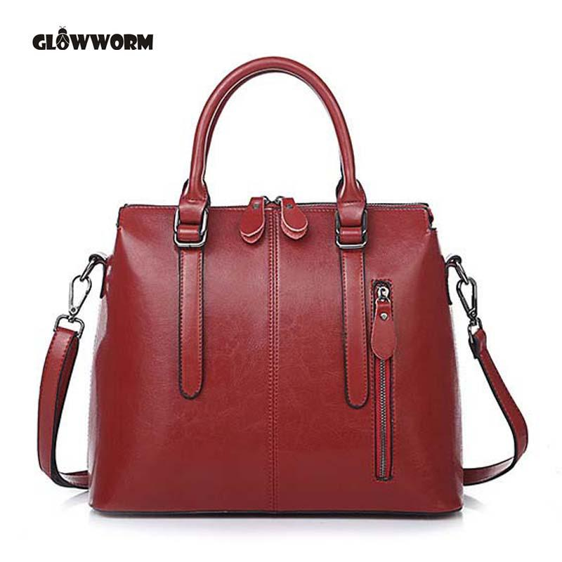 64d7a097fa Women Casual Tote Genuine Leather Handbag Bag Fashion Vintage Large  Shopping Bag Designer Crossbody Bags Big Shoulder Female Leather Totes Jo  Totes From ...
