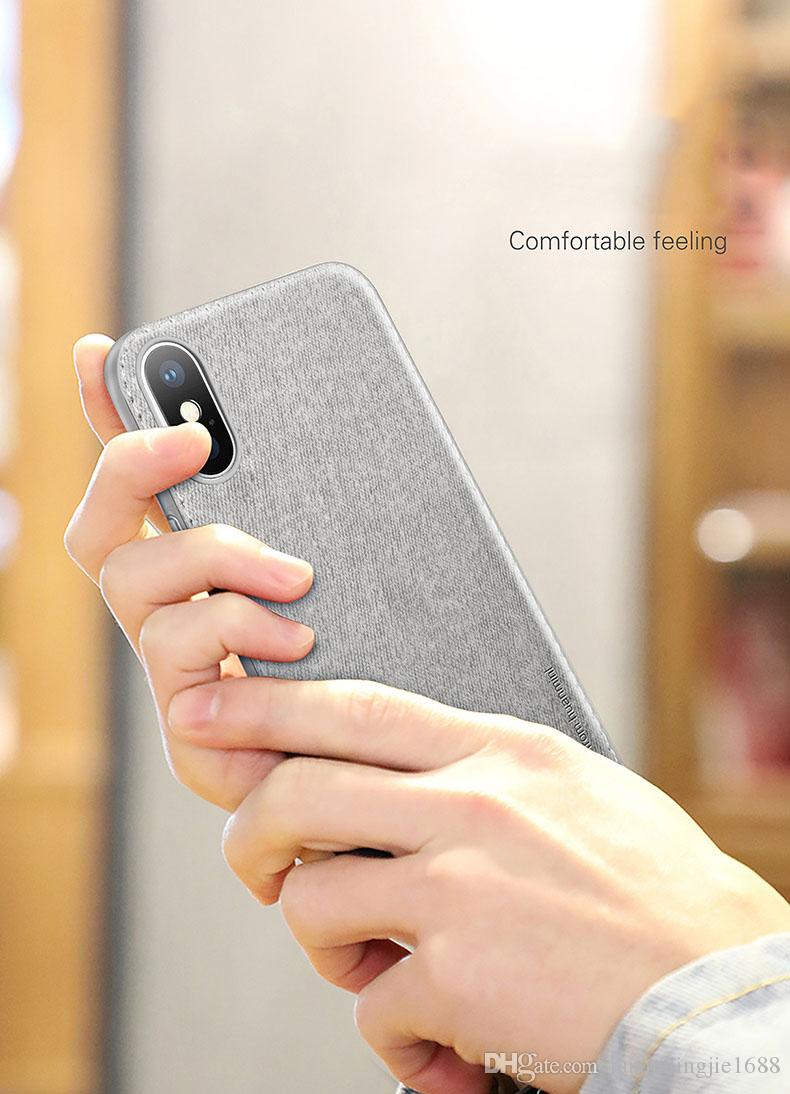 Funda para iPhone X para iPhone xs / xs máximo Paño de algodón antideslizante + Funda protectora de silicona suave TPU para iPhone XR