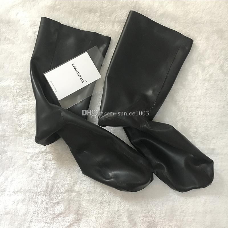 2018 كبار الأزياء المحدودة ضيق الملابس الداخلية مثير جوارب قصيرة النساء اليدوية اللاتكس الأحذية العجاف الجوارب صنم جوارب