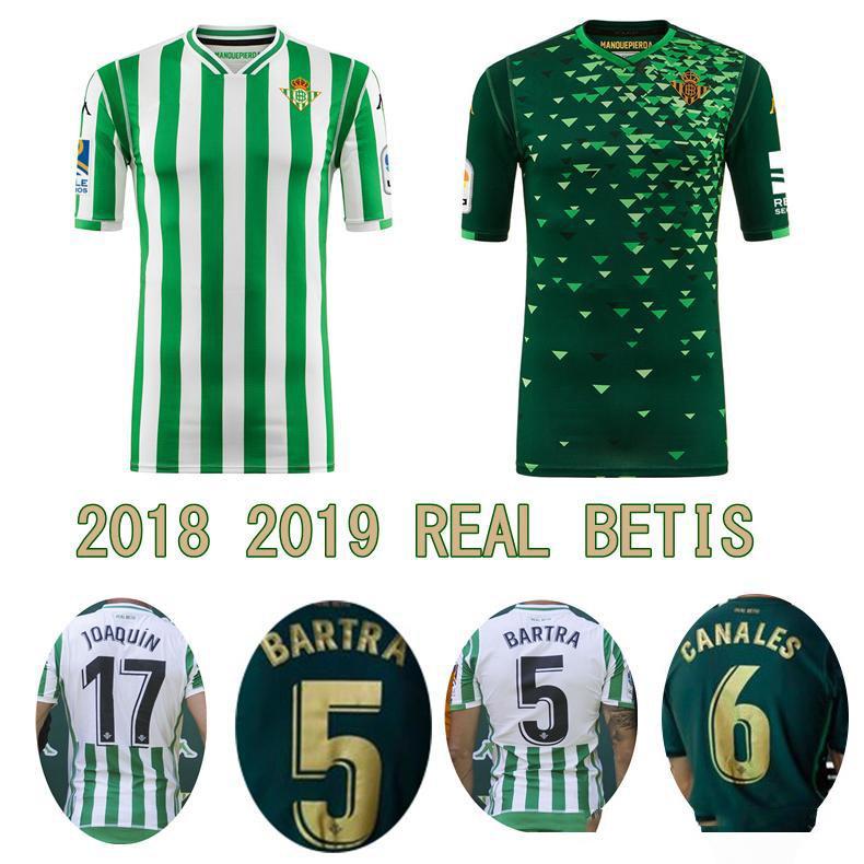 Compre 18 19 REAL BETIS Camisa De Futebol 2018 2019 Home Away JOAQUIN  WILLIAM BOUDEBOUZ C. TELLO A. GUARDADO Camisas De Futebol De Qualidade Thai  De ... 8b3149503c41c
