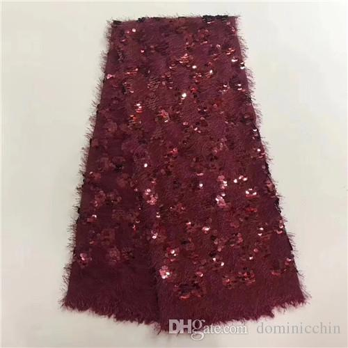 EPT1015 высокое качество Африканская кружевная ткань с бисером Нигерия сетки вышивать 3d блестки тюль текстиль французский платье партии