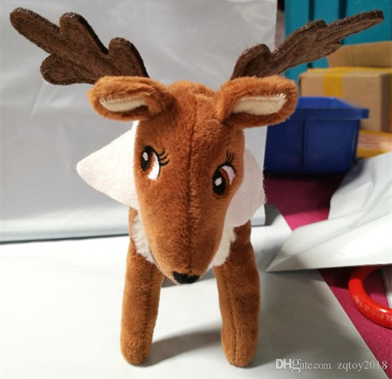 Free DHL Christmas Gift Plush Reindeer with Reindeer hardcover book set For Kids Holiday Kids Christmas New Year Gift