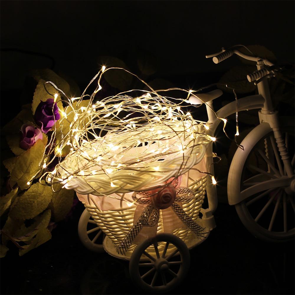 3 M de Cobre LEVOU luz de corda Bateria alimentado por Fadas corda Luz para Festa de Casamento decoração de Natal luz