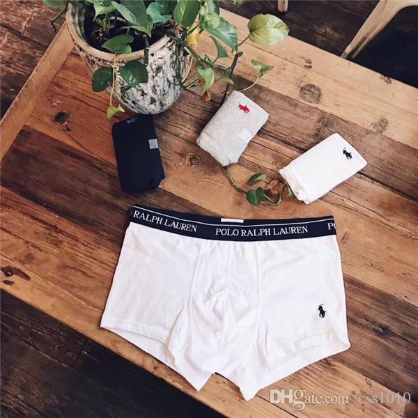 89574ac3de Compre NOVA 18AW Marca De Luxo Polo RL Underwear Moda Men Underwear Calções  De Cuecas Respirável Com Caixa De Três Caixa De Css1010