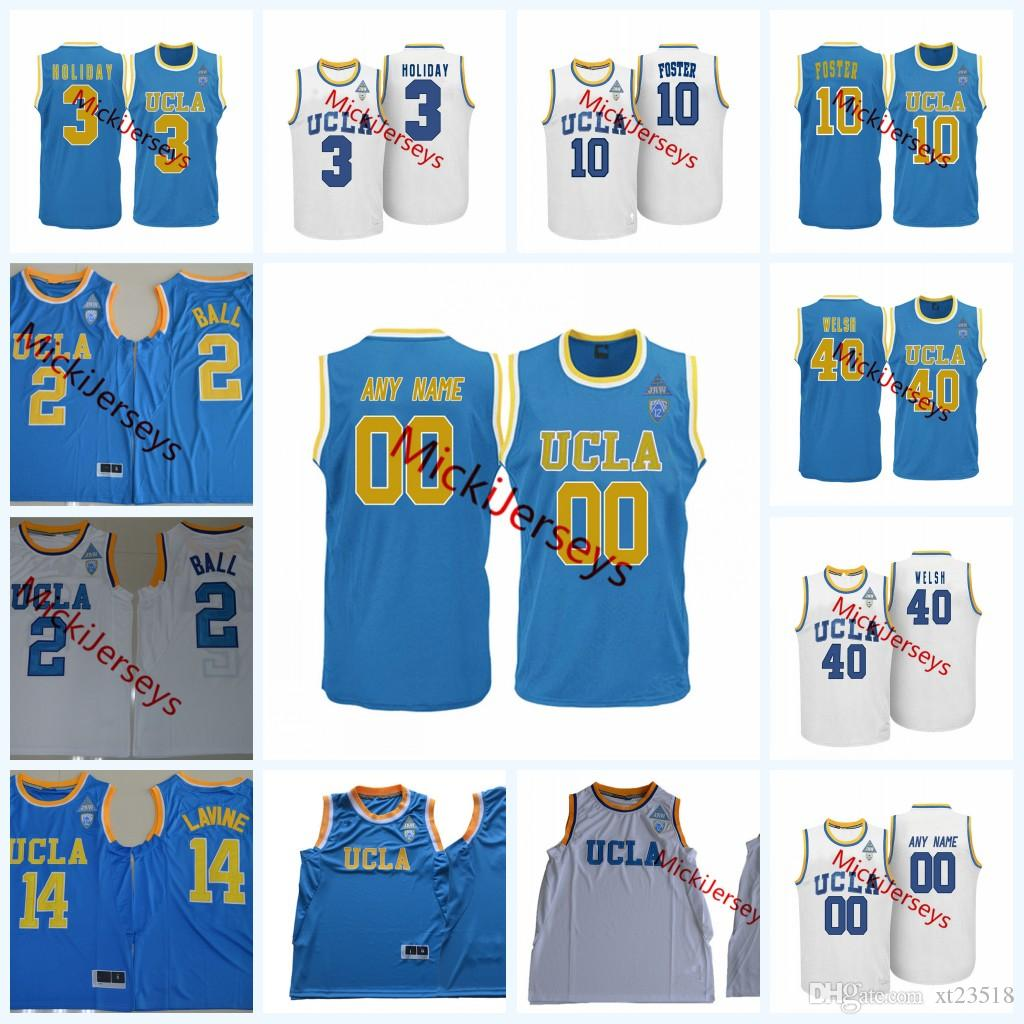 low priced 6ed48 32aa2 Mens Custom NCAA UCLA Bruins College Basketball Jersey Aaron Holiday Jaylen  Hands Kris Wilkes Thomas Welsh Jacob Foster UCLA Bruins Jerseys