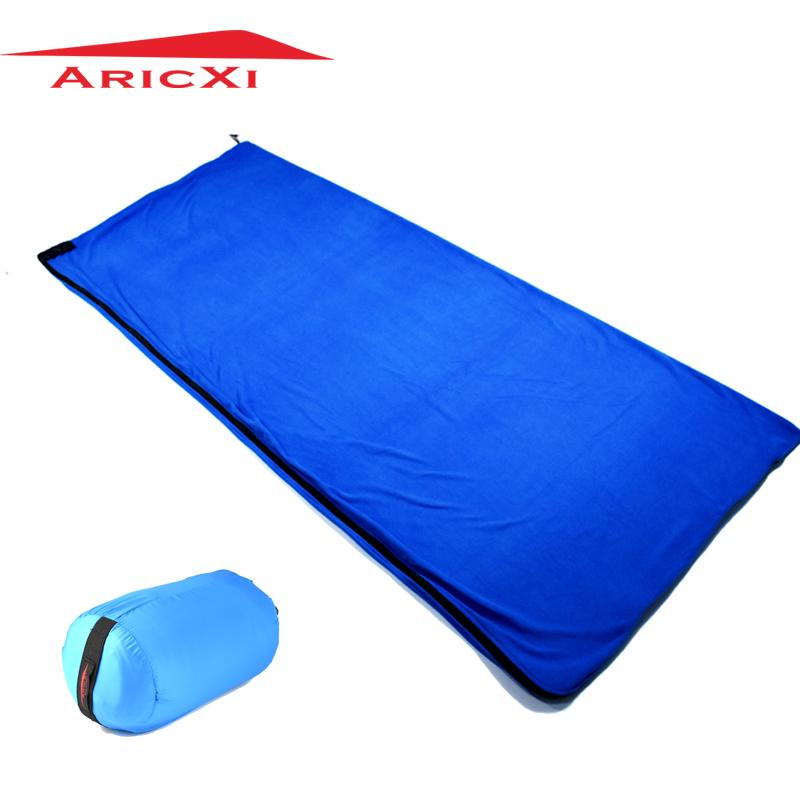 Camp Sleeping Gear Useful Camping Hiking Fleece Sleeping Bag Liner Adult Spring Winter Single Sleeping Bag Outdoor Gear 5 Color Portable Adult Travel