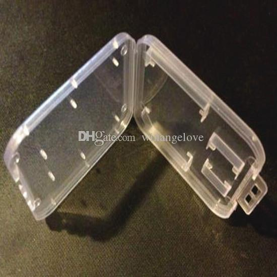 SD MMC TF Card Plastic Case box Transparent Standard Memory Card Holder Storage Case for SD SDHC Memory Card