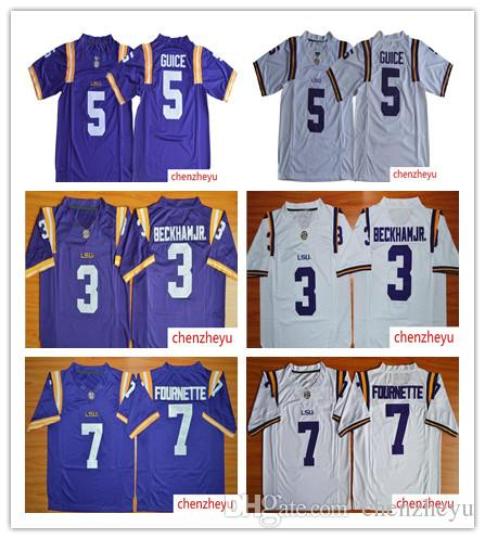 30ee2de3f 2019 Mens LSU Tigers Jersey 3 Odell Beckham JR. 5 Derrius Guice 7 Leonard  Fournette NCAA Sec College Football Jersey From Chenzheyu