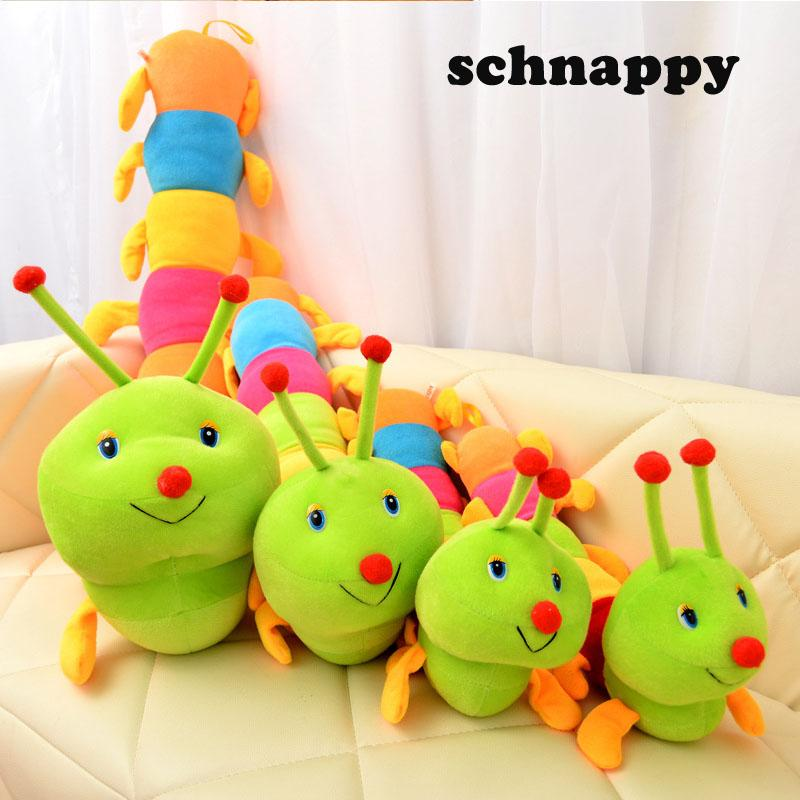 1pc 50cm Lovely Caterpillars Plush Toy Soft Plush Caterpillar Hold Pillow Doll Toys For Children Baby Kids Peluche Cushion