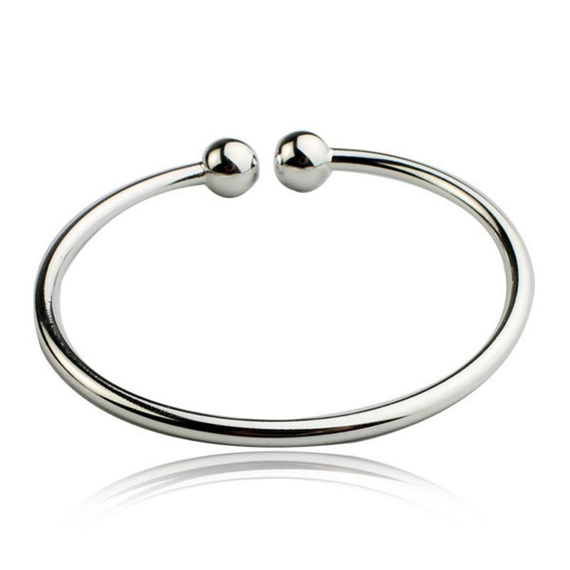 8f0041b97e5 2018 New Fashion 925 Sterling Silver Simple Women Open Cuff Bangle &  Bracelet Luxury Silver Jewelry 3Y297 Silver Bangles Cuff Bracelets From  Ylingnei, ...
