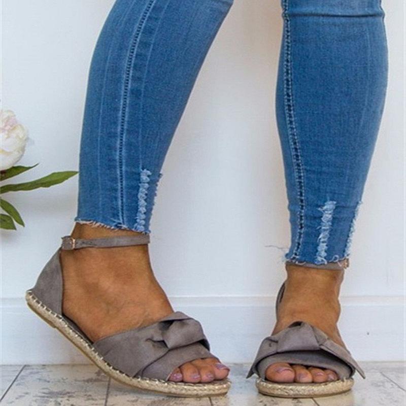 Frauen Schuhe Frauen Sandalen Sommer Weibliche Sandelholze Neue 2018 Schuhe Heißer Verkauf Mode Closed Toe Frauen Mädchen Knoechelriemchen Schuhe Plus Größe 42 43