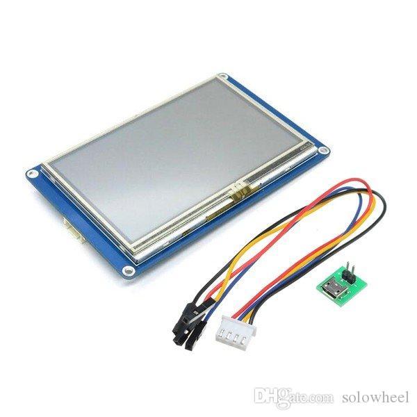 751c16641 4.3 Polegada Inteligente Inteligente UART Serial Touch TFT LCD Módulo  Painel de Exibição Para Raspberry Pi 2 A + B + Arduino Kits