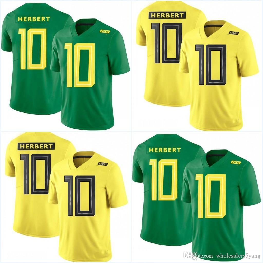 4a9bba19d 2019 Oregon Ducks #10 Justin Herbert Green Yellow Color 2018 New Style  College Jerseys Stitched Jersey Can From Wholesalers5yang, $22.64 |  DHgate.Com