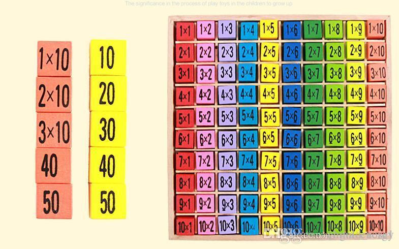 Hot Multiplication Table Math Toys 10x10 Double Side Pattern Printed