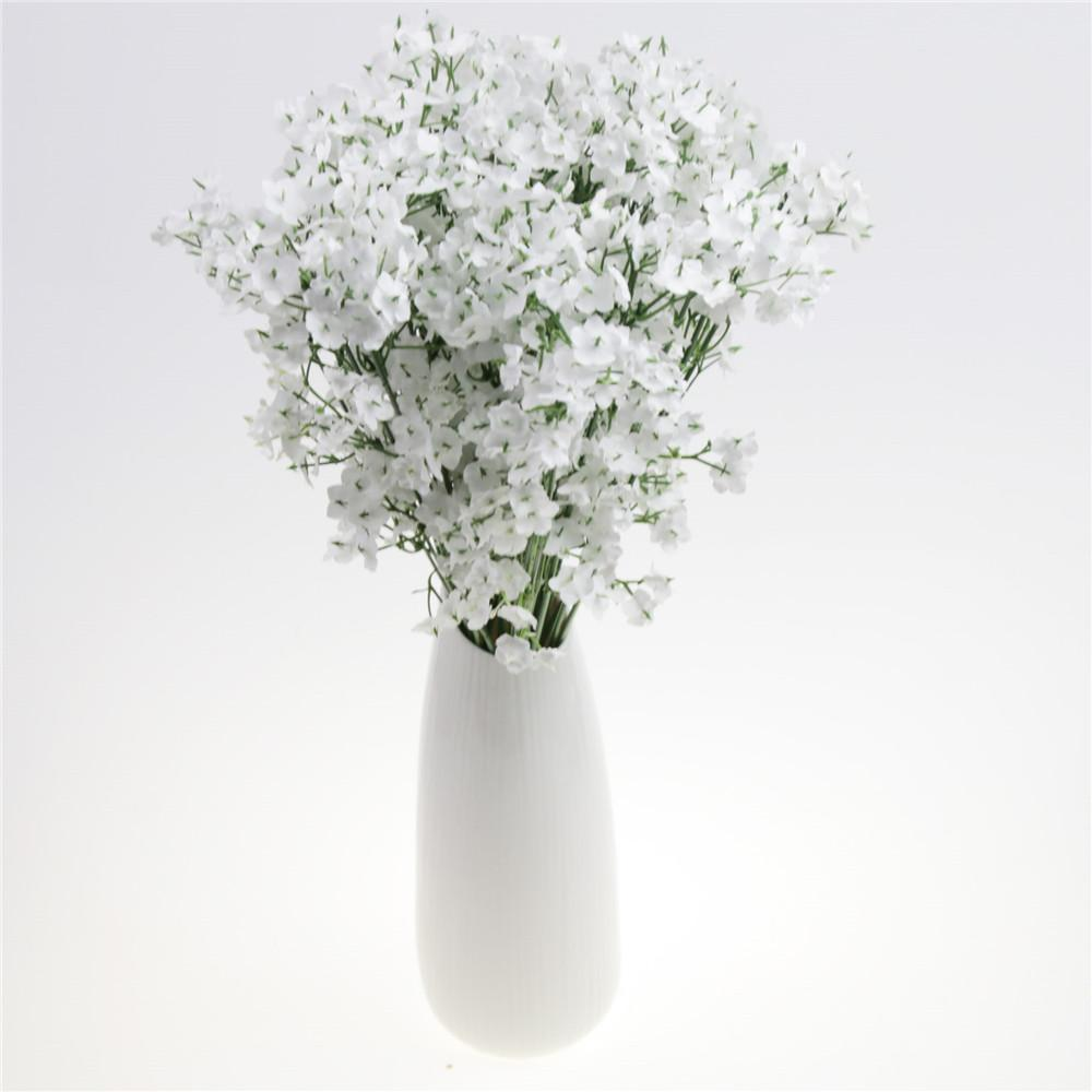 2019 White Fake Silk Artificial Gypsophila Flower Bouquet Wedding Party Home Decor CN From Caley 2377