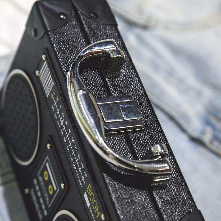 Fun black radio style pu leather fashion ladies clutch bag shoulder bag handbag female crossbody mini messenger bag purs