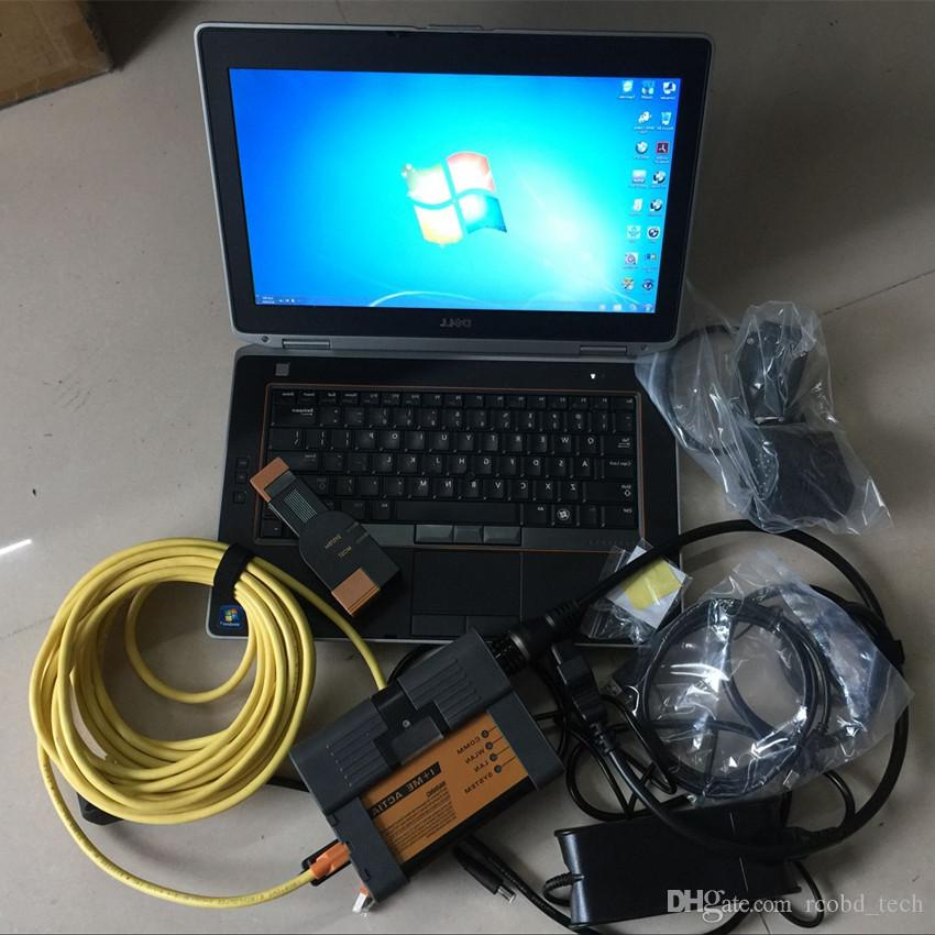 for bmw diagnostic pc scanner tools icom a2 b c with computer e6420 i5 4g  hdd 500gb windows 7