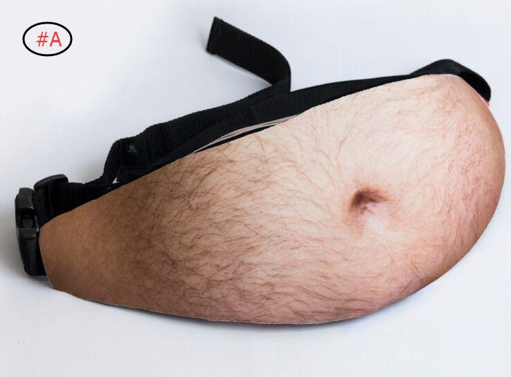 Papa Sac Papa Bod taille Sacs bière Fat Belly Fanny Fun Pack 3D imprimé Muscle Fat Belly Motif Dadbag bourse