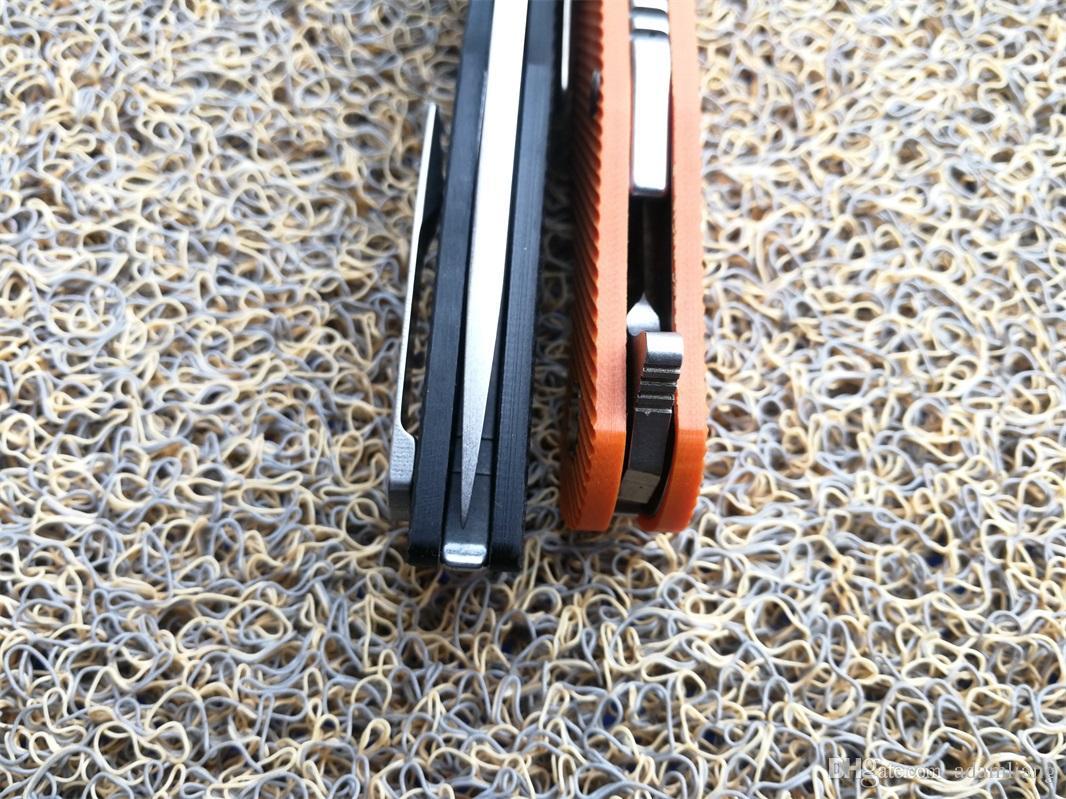 Hohe Qualität JIAHNEG Muster xt111 D2 Stonewashed Klinge orange G10 Griff Outdoor Camping Überleben Lager Klappmesser, EDC Werkzeug