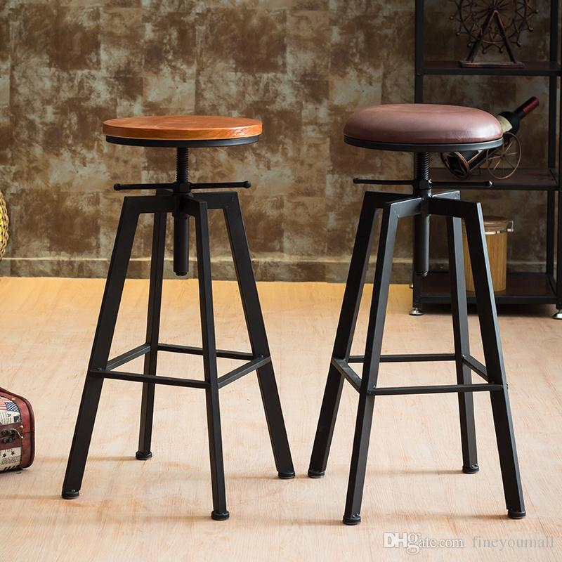 Wondrous 2019 Height Adjustable Swivel Bar Stool Natural Pinewood Top Dining Chair Industrial Style Bar Furniture From Fineyoumall 256 09 Dhgate Com Uwap Interior Chair Design Uwaporg