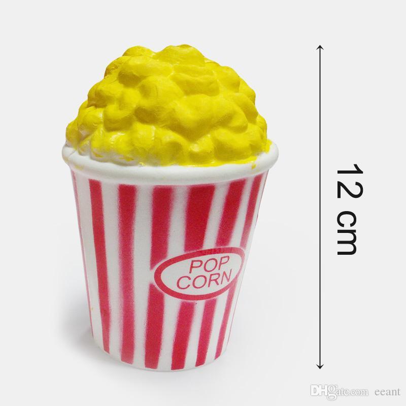 Kawaii Squishies La hausse lente parfum couleur rouge Popcorn Squishy Décompression simulation Popcorn Squishies Vent Home Decor faire rentrer avec difficulté FD0002