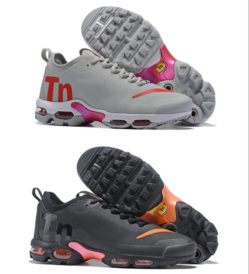 2677693ae63 2018 New Mercurial Plus Tn Ultra SE Black White Orange Running Shoes Brand  Luxury Designer Women Mens Trainers Air Sports Chaussures Cool Running Shoes  ...