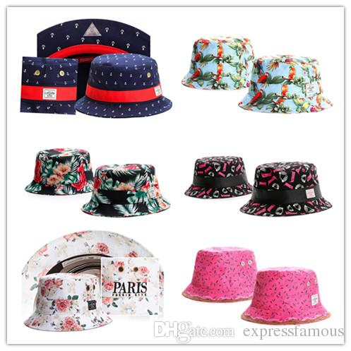 141dd8bf769 Wholesale Sun Hat Fashion Design Men Women S Bucket Hat Hot Brand Cayler    Sons Floral Fashion Hip Hop Summer Fisherman Hat Caps Baby Hats Bucket Hats  For ...