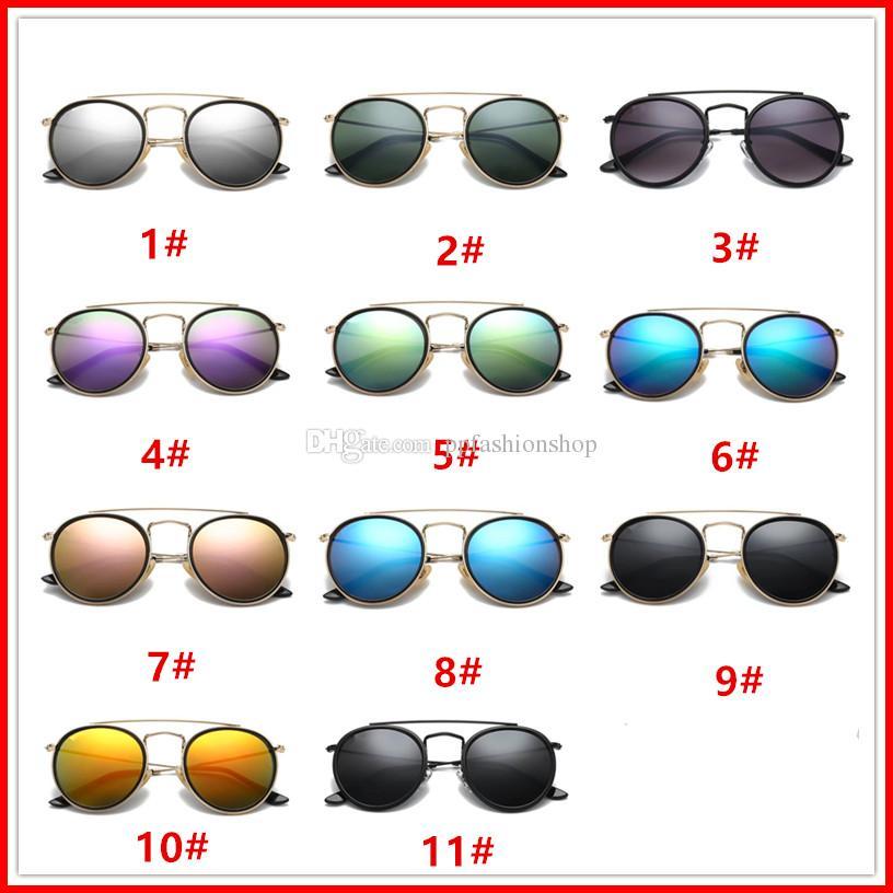 3647 Marca óculos de sol dos homens das mulheres óculos de sol da moda Óculos Retro marca de design rodada quadro uv400 Óculos de proteção Moda óculos retro