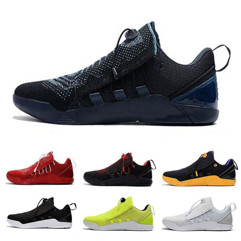 new style f72dd db823 Acquista Nike KOBE AD NXT 12 Sneakers Con Box KB A.D. NXT Outdoor Walking  Scarpe Da Jogging 12 Mambacurial Mens Casual Oreo Nero Bianco Rosso Lupo  Grigio ...
