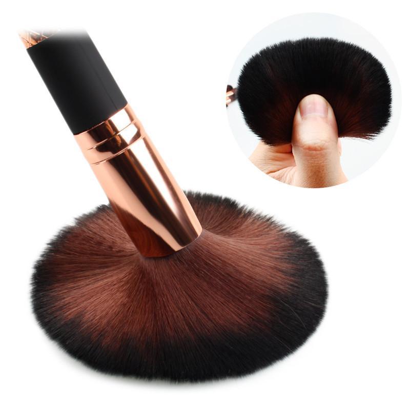 7 unids / set Maquillaje Cepillo Kit Cepillos Mango de Oro Negro para Fundación Corrector de Ojos Eyeliner Cosméticos Pinceles de Maquillaje Herramienta con Caso