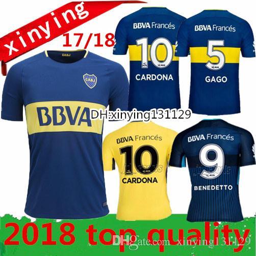 Wholesale Thai Quality 2017 2018 Argentina Boca Club Juniors Soccer Jerseys  17 18 Gago Osvaldo Carlitos Perez P Home Blue Away 3rd Football Shirts By  ...