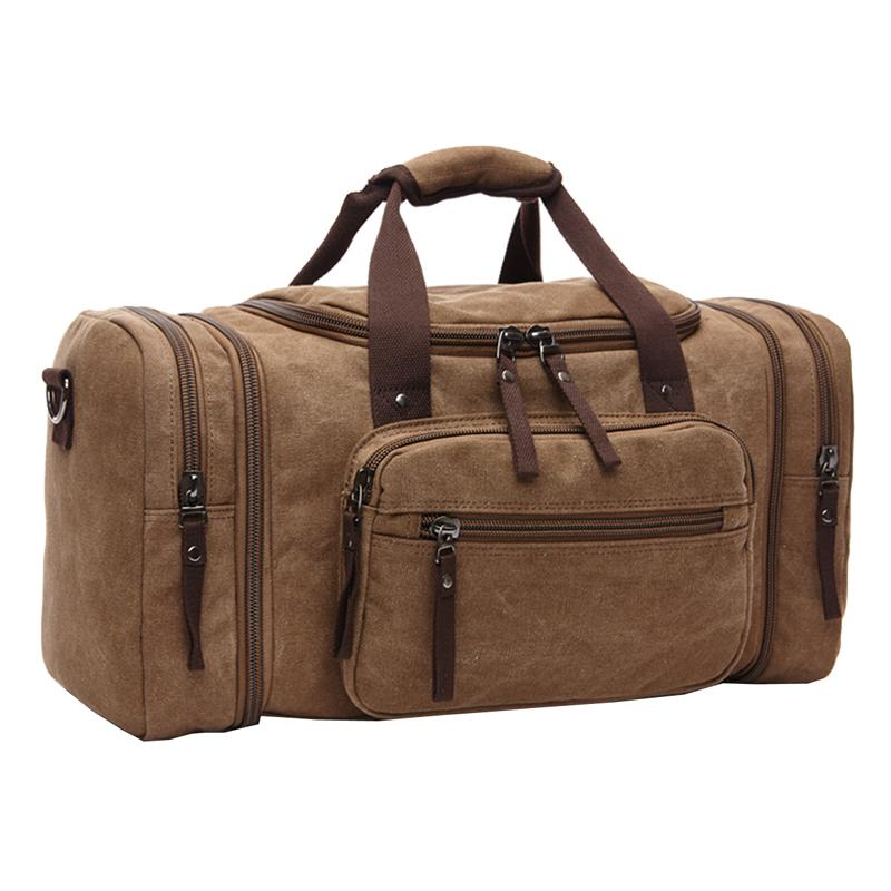 ca57a2b6247d Brand Vintage Canvas Men Travel Bags Carry on Luggage Bags Men ...