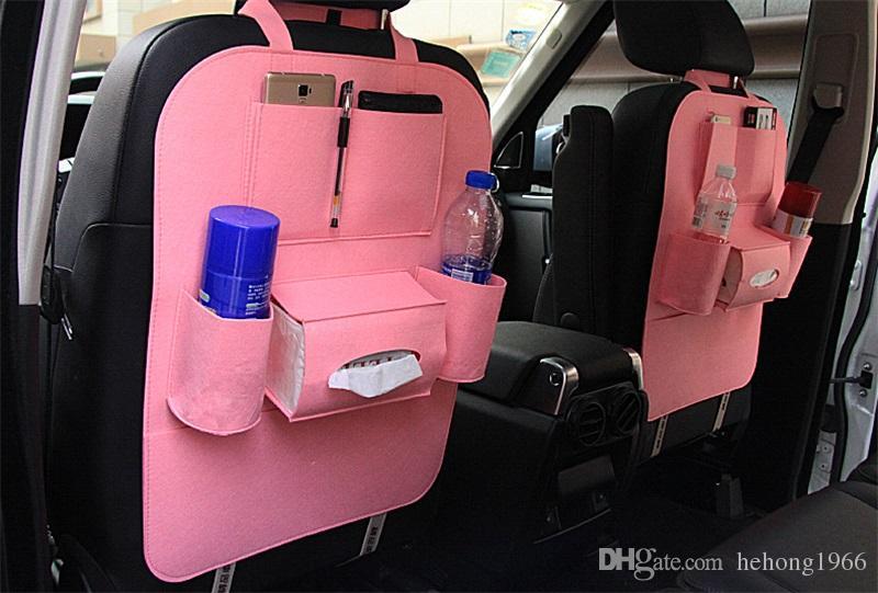 Saco de Armazenamento de veículo Automóvel Sentiu Bolsa Carro Multi Função Cadeira Back Box Bin Titular Organizador Venda Quente 5 5ck V