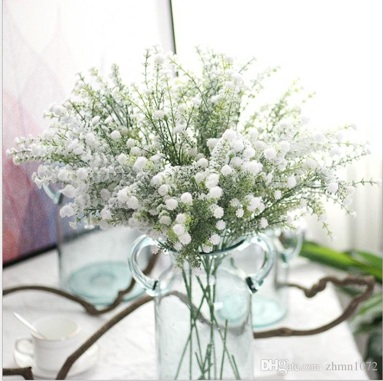 2018 babysbreath white snow artificial flower christmas flowers home babysbreath white snow artificial flowerg mightylinksfo