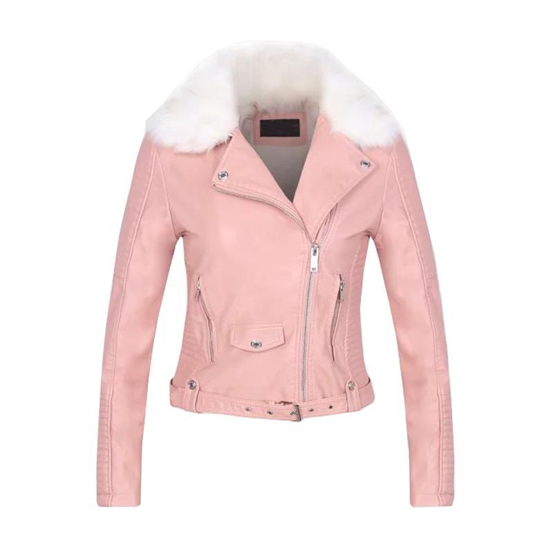 84cad6bcc46 2018 Women Autumn Bomber Jackets Coat Pu Leather Jackets Jaqueta Feminina  Tops For Women Coat Casaco Feminino Chaqueta Mujer Basic Jackets Cheap  Basic ...