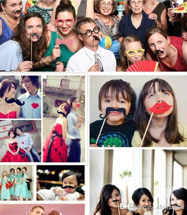 Christmas party Photo Props Moustache Hat Small Eyes Paper Beard Wedding Party Supplies Bachelorette Party Photo Booth