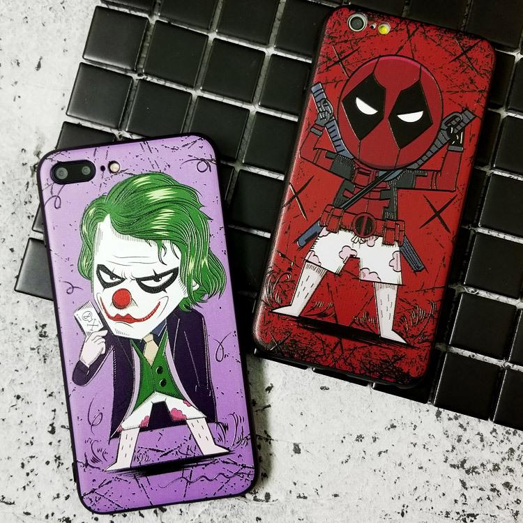 For Samsung S10 S9 Plus Galaxy S8 Case Cover for iPhone XS Max 8 7Plus Case  Marvel Captain America Spiderman Batman Superhero