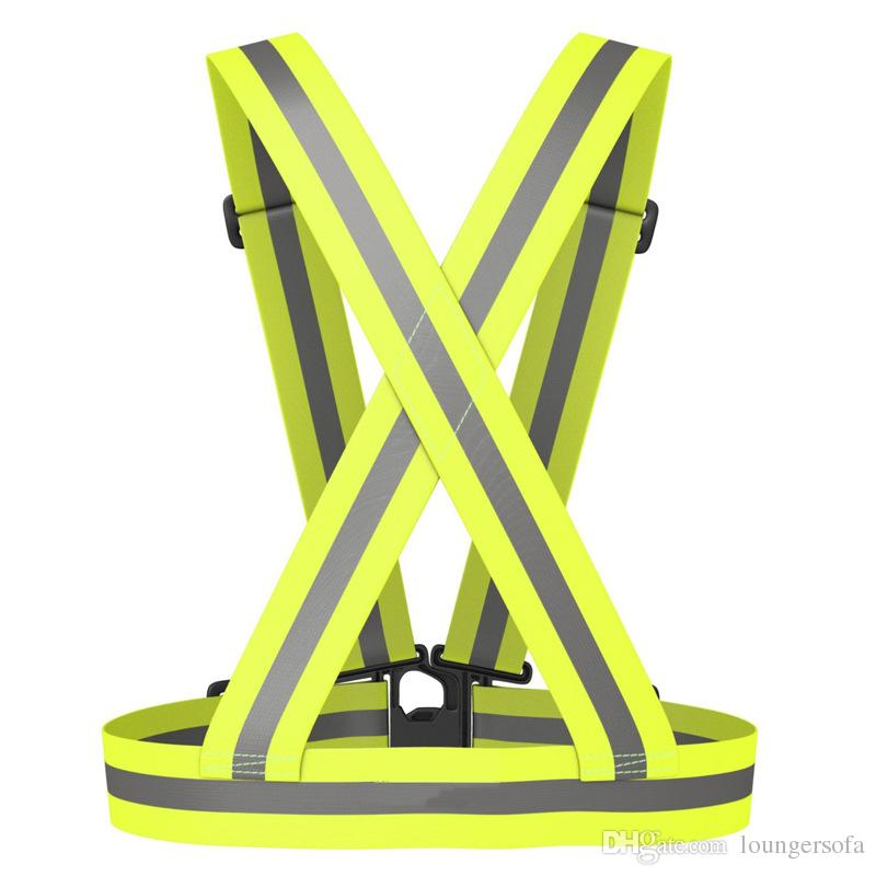Telescopic Elastic Reflective Vests Adjustable Safety Strip Tap Band Vest For Running Cycling Outdoor Tools High Quality 8jla B