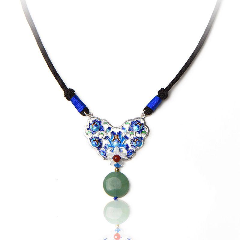 5fc54b68c605 Compre Nuevo Original Cloisonne Collar De Joyería De Época De Las Mujeres