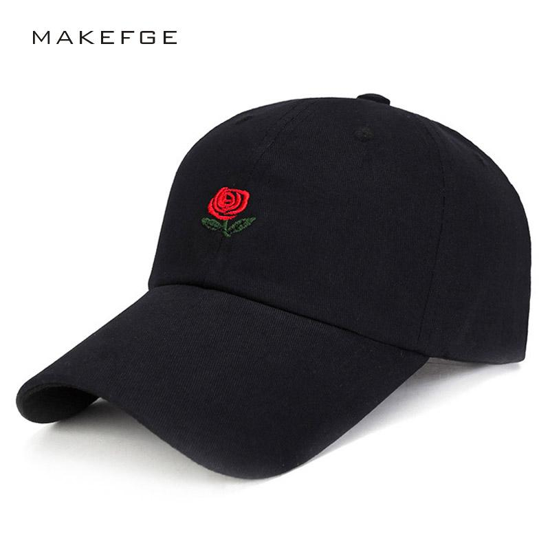 571b22fac42 100% Cotton Rose Embroidery Hat Black Cap Blank Snapback Dad Cap Designer  Female Hats Men Women Visor Hat Skateboard Gorra Bone Caps Lids From  Turban