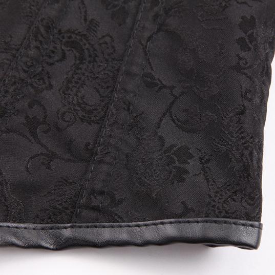 Women Steampunk Corset Black Steel Bone Underbust Corsets Vest Dobby Corselets Sexy Waist Slim Bustiers Waist Cincher corset