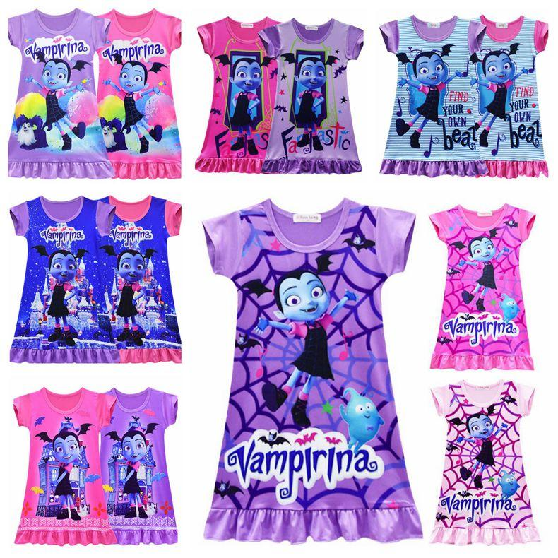 a81e0207e 2019 32 Styles Vampirina Girls Dresses 2~10 Years Old Baby Girls Dress  Vampirina Printed Kids Summer Dress Baby Clothing CCA10143 From B2b_life,  ...