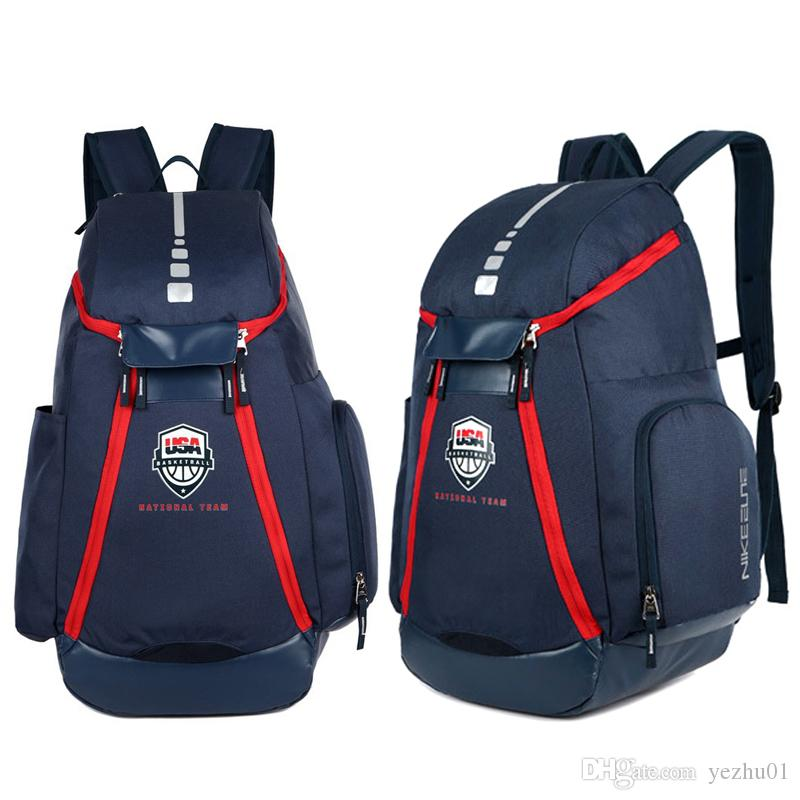 8416b0a905 Basketball Backpacks New Olympic USA Team Packs Backpack Unisex Bags Large  Capacity Waterproof Training Travel Bags Shoes Bags Rucksack Backpack Boys  ...