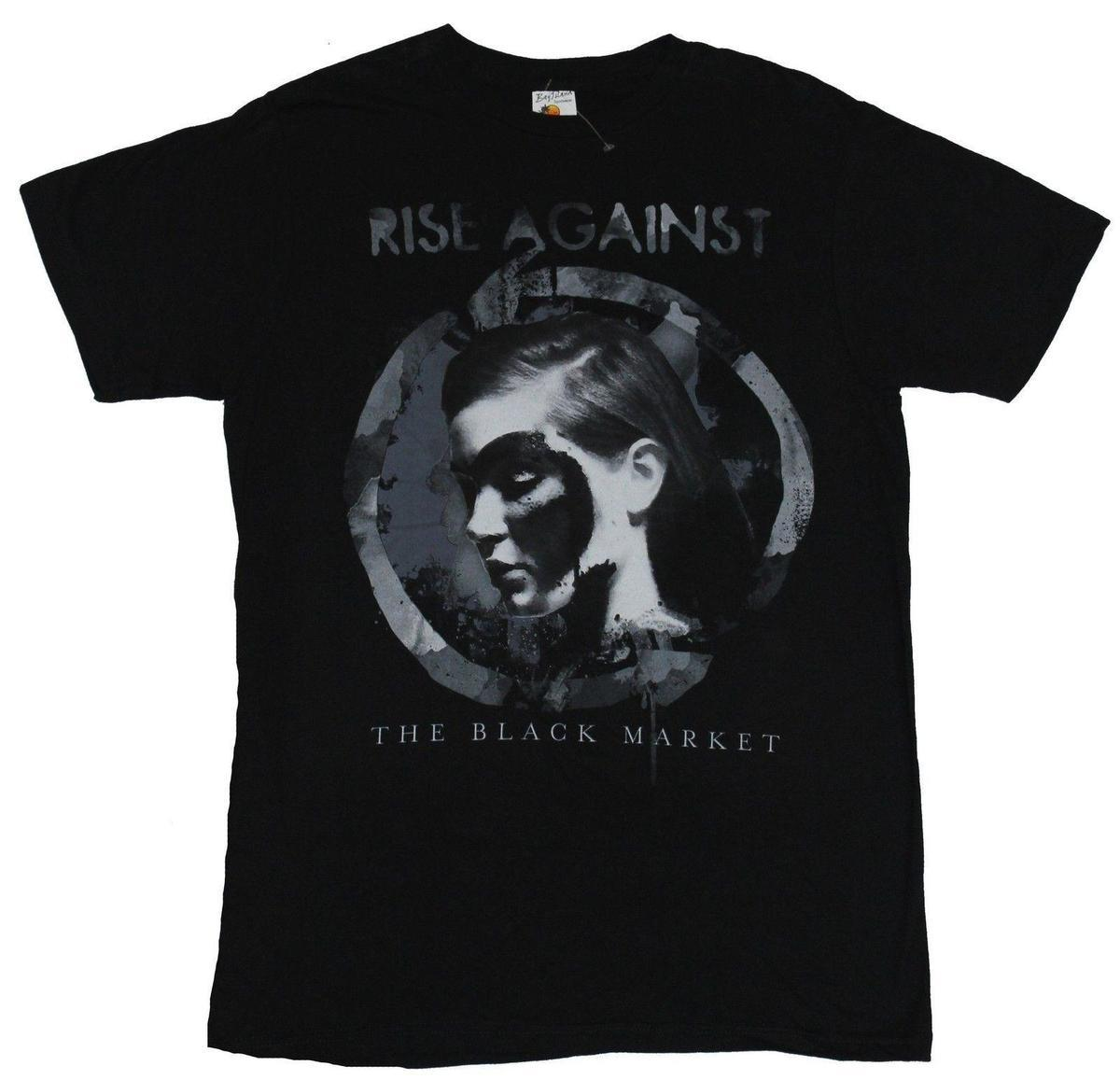 Grosshandel Rise Against Herren T Shirt Der Schwarzmarkt Circled