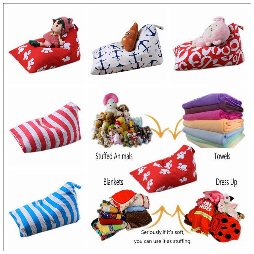 79 Styles Diamond Shape Storage Bag Kids Stripe Stuffed Animal Plush Toy Bean Bag Soft Pouch Storage Bean Bag Storage Bags CCA9533 30pcs