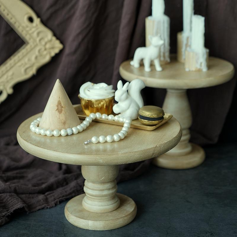 New Chic Type Wood Cake Stands Wedding Birthday Decoration Stand Platform Home Restaurant Cupcake Food Fruit Dessert Tray