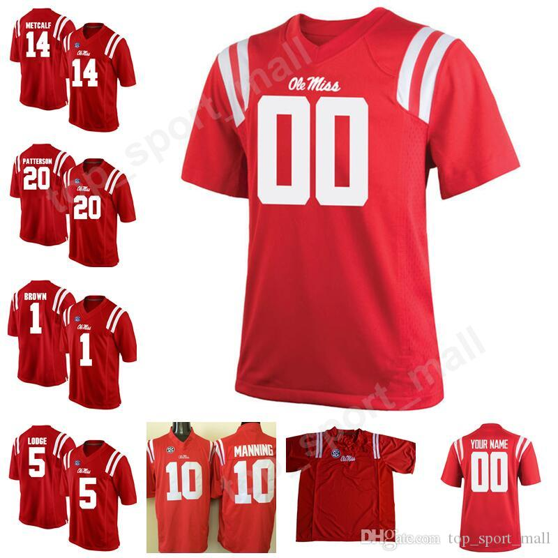 2019 Man Kids College 14 DK Metcalf Jersey Ole Miss Rebels 10 Taamu 20 Shea  Patterson Football Jerseys Stitched Make Custom Personalized Red From ... 3462f77df