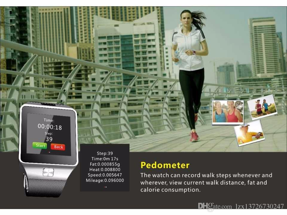 Слот DZ09 Смарт часы Bluetooth носимого устройства SmartWatch для iPhone Android телефон Часы с камерой Часы SIM / TF