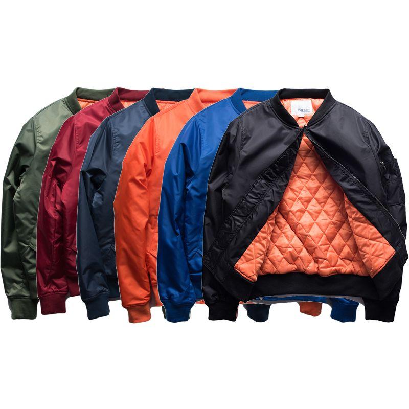 7a51a22e461b0 Winter Jackets Men Women Warm Quilted Jacket Pea Coat Lovers Hip Hop Pilot MA  1 Jacket Kanye West Plain Bomber Jackets Overcoat BFSG1217 Short Jacket  Women ...